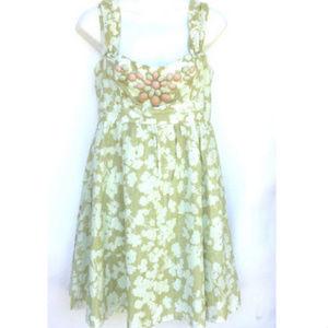 Nanette Lepore Neiman Marcus Dress Green Beaded
